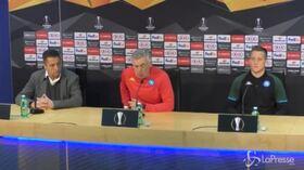 """Europa League, Ancelotti: """"Sereni e motivati, concentrati come contro la Juve"""""""