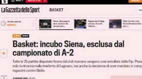 Basket, Siena fuori dal campionato di A2