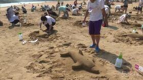 Il maggior numero di sculture di sabbia in contemporanea: record a Taiwan