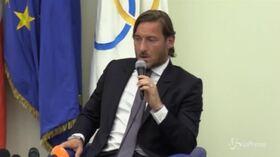 """Totti: """"Baldini? Uno di noi due era di troppo, ho lasciato io"""""""