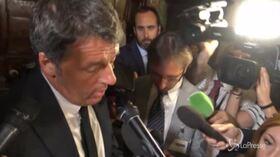 """Crisi governo, Renzi: """"Il mio compito è insistere per una soluzione"""""""