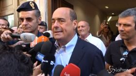 """Pd, Zingaretti: """"Soddisfatto per unità del partito, disponibili a governo di svolta"""""""