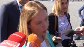"""Consultazioni, Meloni: """"Ho sentito Salvini. Con voto Lega e FdI insieme vinciamo"""""""