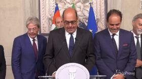 """Consultazioni, Zingaretti: """"Tra noi e M5S distanza politica, non sarà facile"""""""