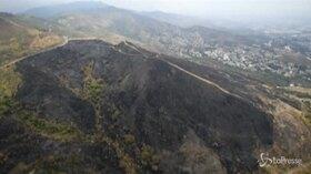 Le immagini aeree della foresta bruciata in Colombia