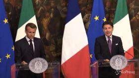 """Immigrazione, Conte: """"Da Macron piena disponibilità su meccanismo condiviso"""""""