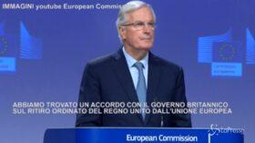 """Brexit, il capo negoziatore Michel Barnier: """"Trovato accordo, risultato di lavoro intenso"""""""
