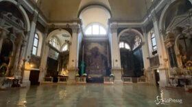 Venezia arriva picco dell'acqua alta: 150 cm. La chiesa di San Moisè invasa dall'acqua