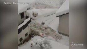 Alto Adige: valanga in Val Martello in un centro abitato