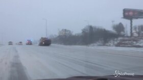 Usa, tempeste di neve nel Midwest
